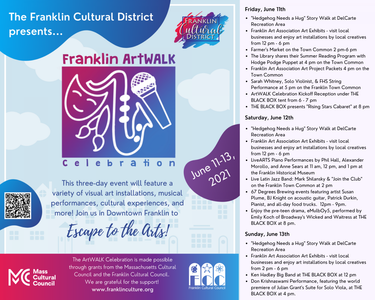 Escape to the Arts: Listen to hear about the ArtWALK Celebration scheduled for June 11-12-13